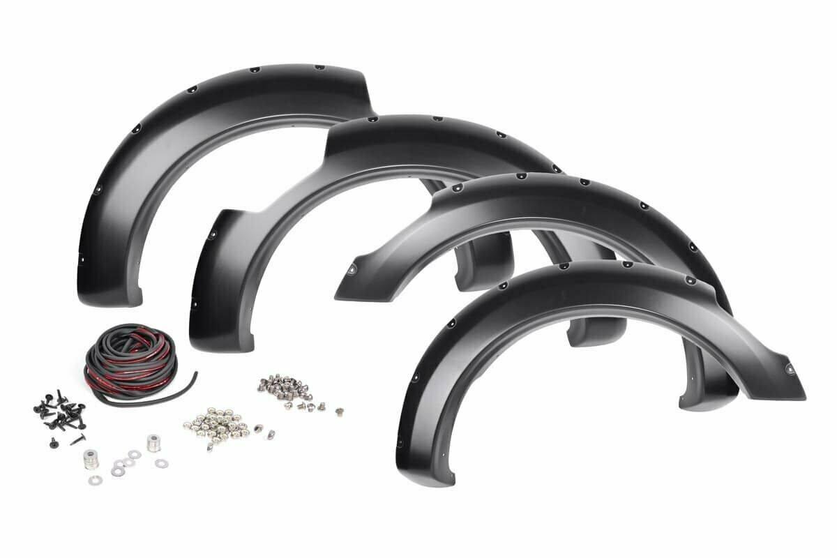 Nissan Pocket Fender Flares   Rivets   Unpainted (17-19 Titan King Cab)