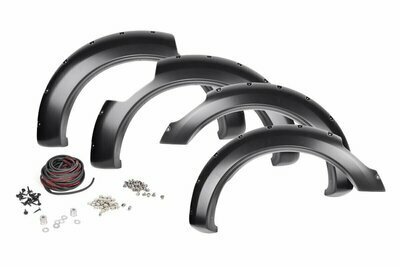 Nissan Pocket Fender Flares | Rivets | Unpainted (17-19 Titan King Cab)