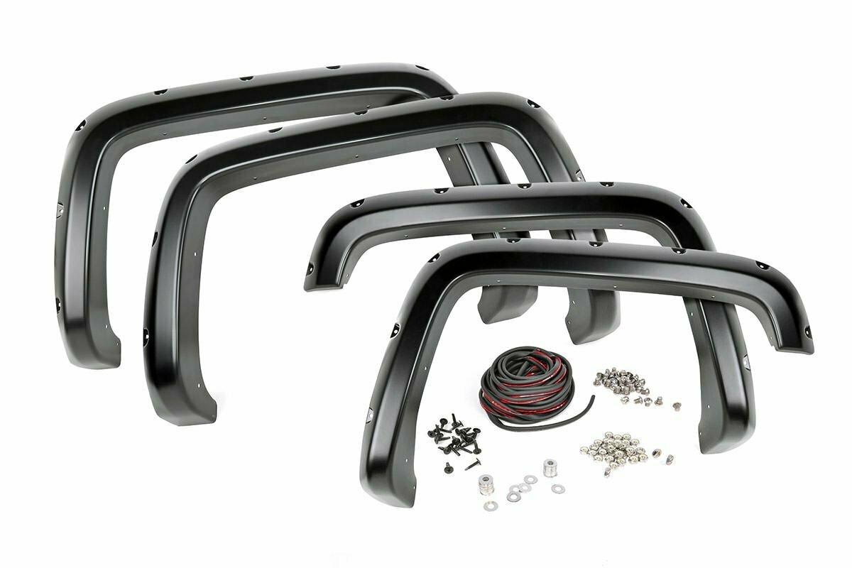 "Chevrolet Pocket Fender Flares | Rivets | Black (14-15 Silverado 1500 - 5' 8"" Bed)"