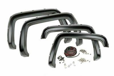 Chevrolet Pocket Fender Flares   Rivets   Black (14-15 Silverado 1500 - 5' 8