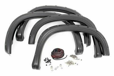 Chevrolet Pocket Fender Flares   Rivets   Olympic White (15-18 Colorado 5' Bed)