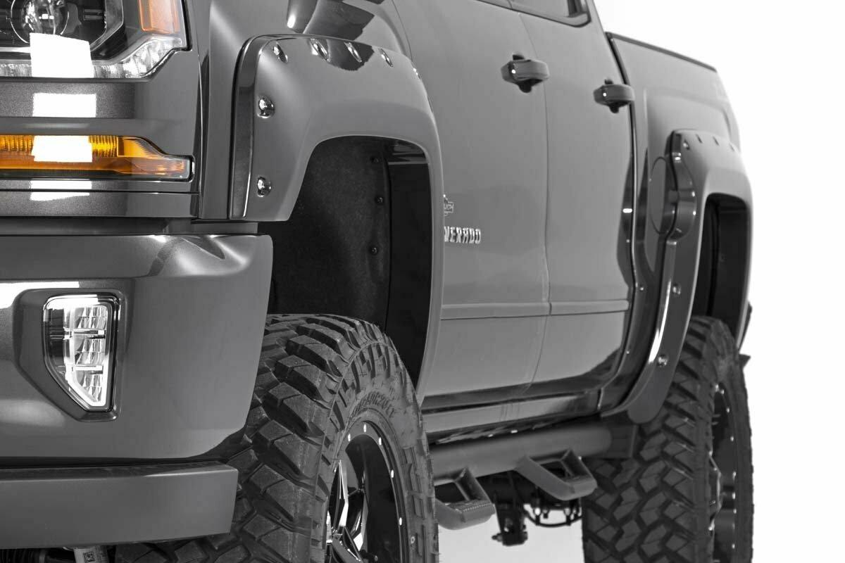 Chevrolet Pocket Fender Flares | Rivets (16-18 Silverado 1500 - 6.5' / 8' Bed)