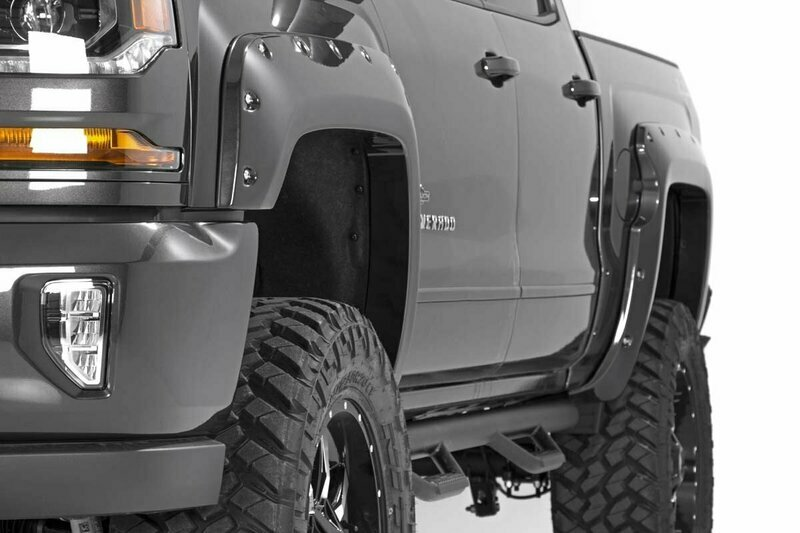 Chevrolet Pocket Fender Flares   Rivets (16-18 Silverado 1500 - 6.5' / 8' Bed)