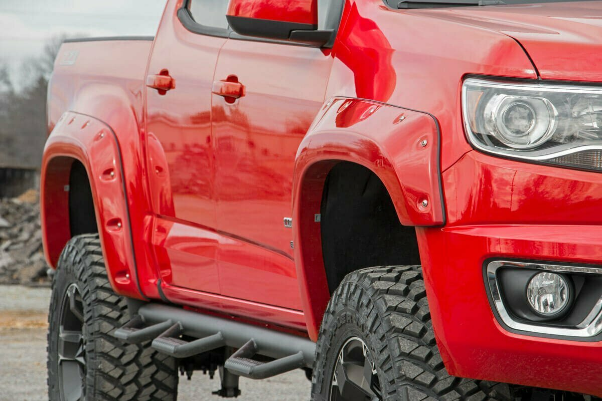 "Chevrolet Pocket Fender Flares w/Rivets (15-20 Colorado - 6' 2"" Bed)"