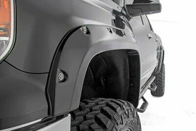 Chevrolet Pocket Fender Flares w/Rivets (14-15 Silverado 1500 - 6.5' / 8' Bed)