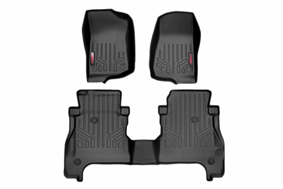 Heavy Duty Floor Mats [Front & Rear w/o Under Seat Lockable Storage] - (2020 Gladiator JT)