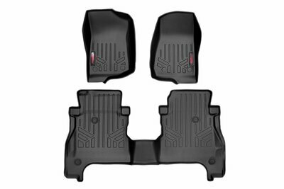 Heavy Duty Floor Mats [Front & Rear w/ Under Seat Lockable Storage] - (2020 Gladiator JT)