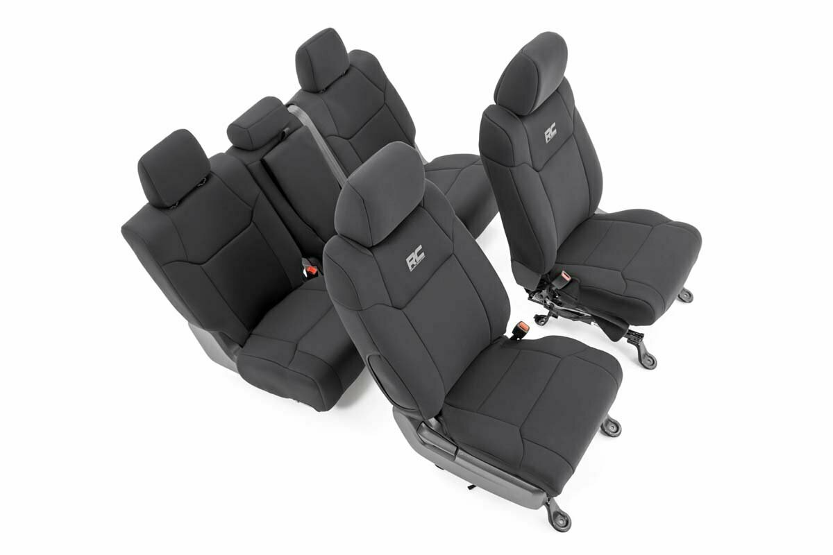 Toyota Neoprene Front & Rear Seat Covers (14-20 Tundra | Crew Cab)