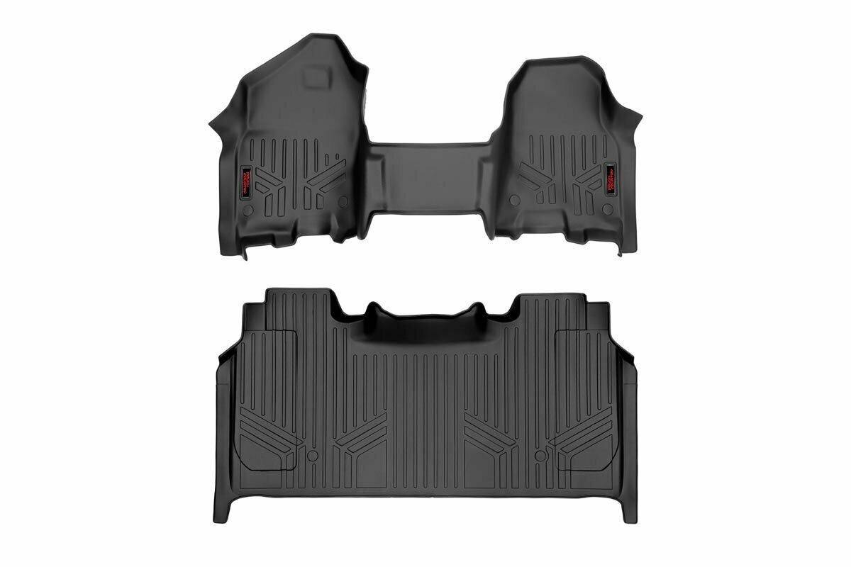 Heavy Duty Floor Mats [Front/Rear] - (19-20 Ram 1500 | Crew Cab | Half Console w/ Rear Under Seat Storage))
