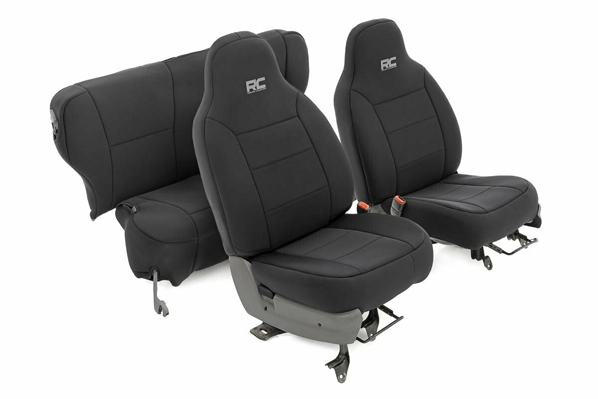 Jeep Neoprene Seat Cover Set | Black [84-96 XJ]