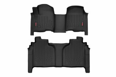 Heavy Duty Floor Mats [Front/Rear] - (19-20 Chevy Silverado / GMC Sierra Crew Cab   Bench Seats)
