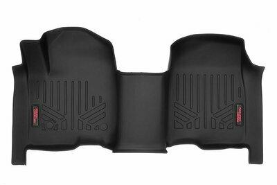 Heavy Duty Floor Mats [Front] - (19-20 Chevy Silverado / GMC Sierra Crew Cab   Bench Seats)