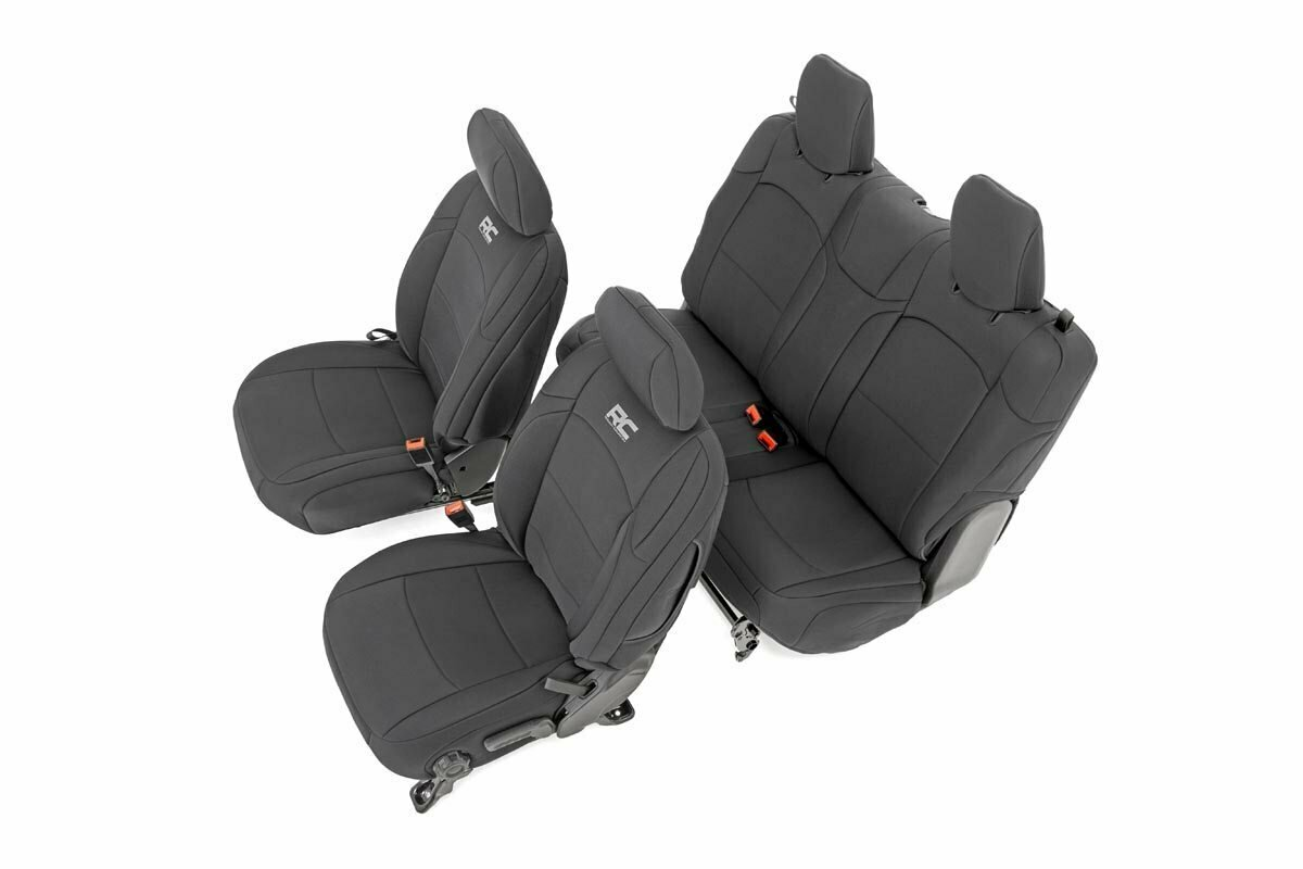 Jeep Neoprene Seat Cover Set | Black [18-20 Wrangler JL]