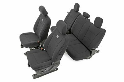 Ford Neoprene Front & Rear Seat Cover | Black [15-20 F-150 XL, XLT]