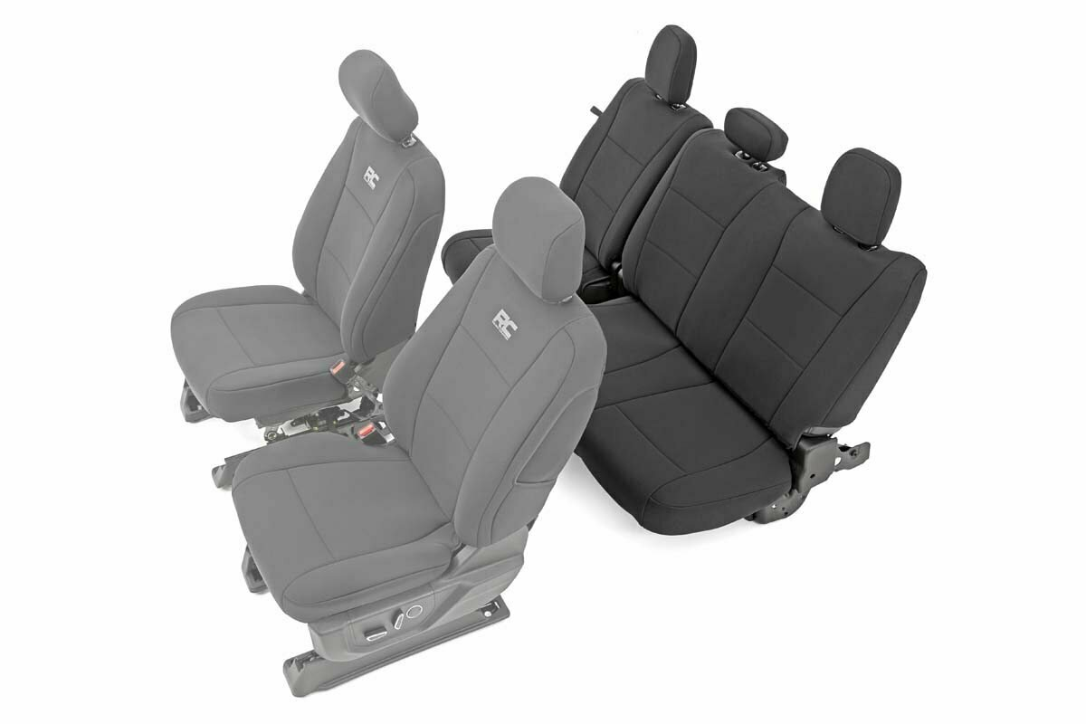 Ford Neoprene Rear Seat Cover | Black [15-20 F-150 XL, XLT]