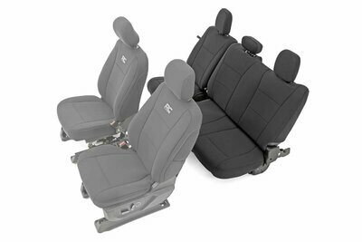 Ford Neoprene Rear Seat Cover | Black [15-20 F-150 XL, XLT]