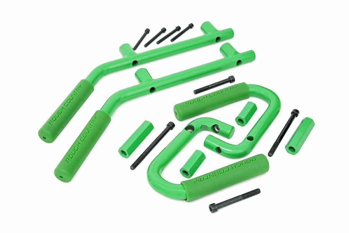 Jeep Solid Steel Grab Handle Set (07-18 Wrangler JK | Green)