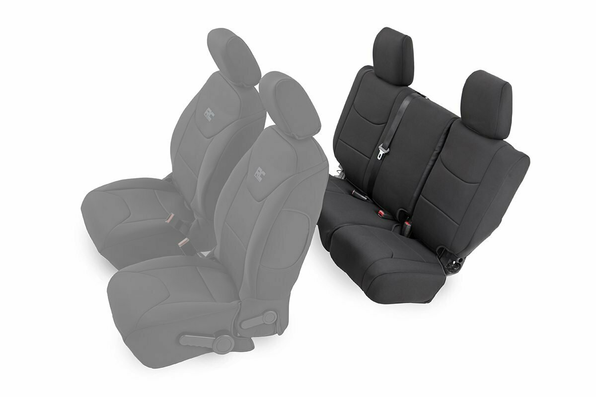 Jeep Neoprene Rear Seat Cover   Black [13-18 Wrangler JK Unlimited]
