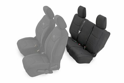 Jeep Neoprene Rear Seat Cover | Black [13-18 Wrangler JK Unlimited]
