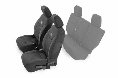 Jeep Neoprene Front Seat Cover | Black [13-18 Wrangler JK Unlimited]