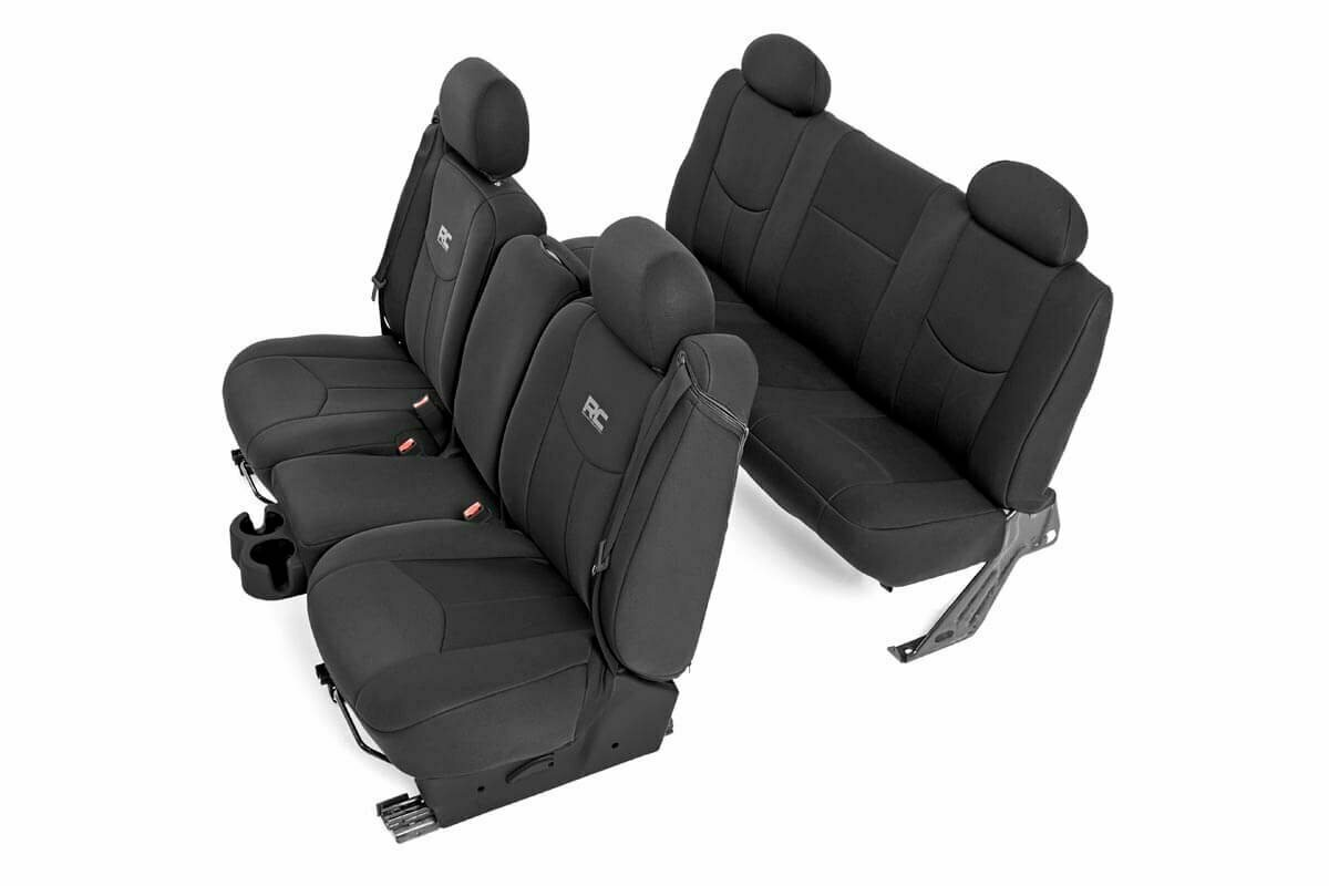 GM Neoprene Front & Rear Seat Cover Combo | Black [99-06 1500]