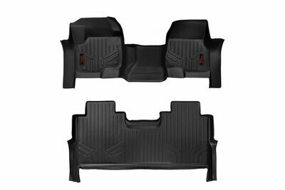 Heavy Duty Floor Mats [Front/Rear] - (17-20 Ford Super Duty Crew Cab | Bench Seats)