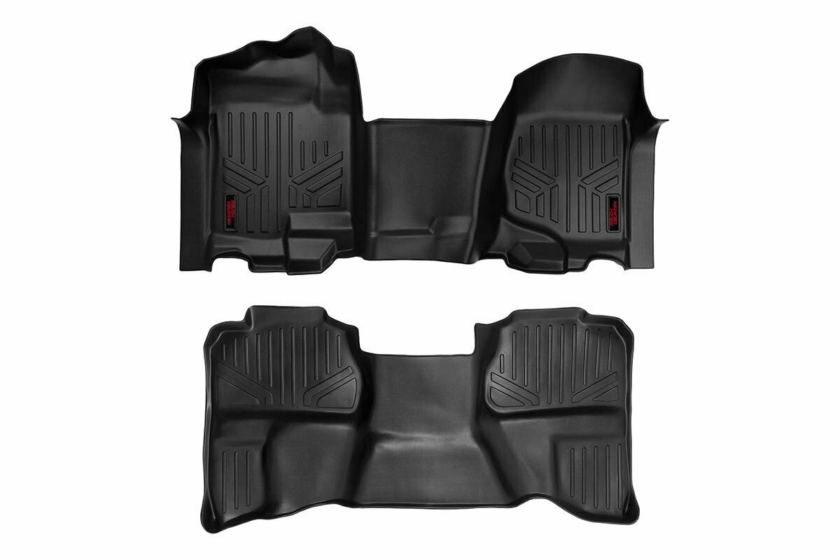 GM Heavy Duty Floor Mats [Front/Rear] - (07-13 Silverado / Sierra | 07-14 HD | Ext. Cab | Bench Seat)