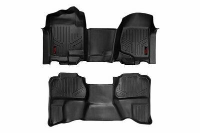 GM Heavy Duty Floor Mats [Front/Rear] - (07-13 Silverado / Sierra   07-14 HD   Ext. Cab   Bench Seat)