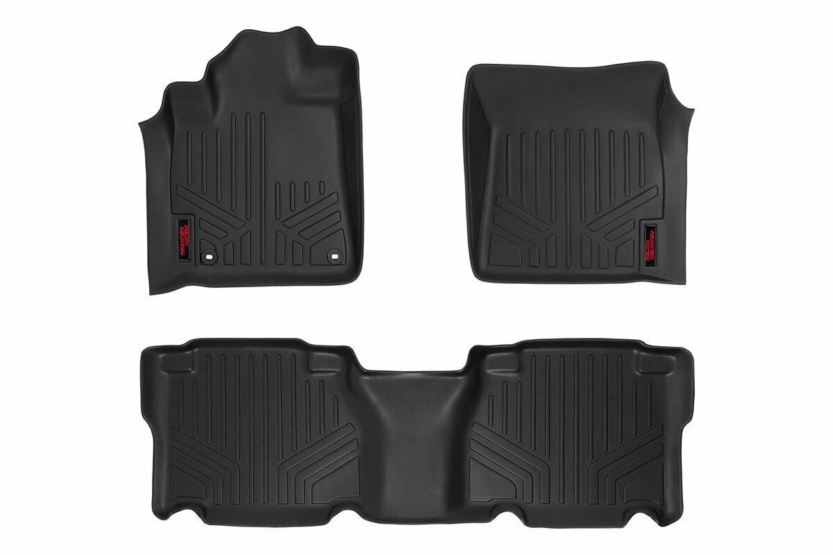 Heavy Duty Floor Mats [Front/Rear | Crew Max Cab] - (12-13 Toyota Tundra)