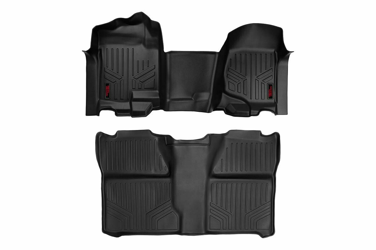 GM Heavy Duty Floor Mats [Front/Rear] - (07-13 Silverado / Sierra | 07-14 HD | Crew Cab | Bench Seat)
