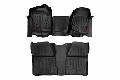 GM Heavy Duty Floor Mats [Front/Rear] - (07-13 Silverado / Sierra   07-14 HD   Crew Cab   Bench Seat)