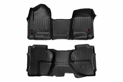 Heavy Duty Floor Mats [Front/Rear] - (14-19 Chevy Silverado / GMC Sierra Double Cab)