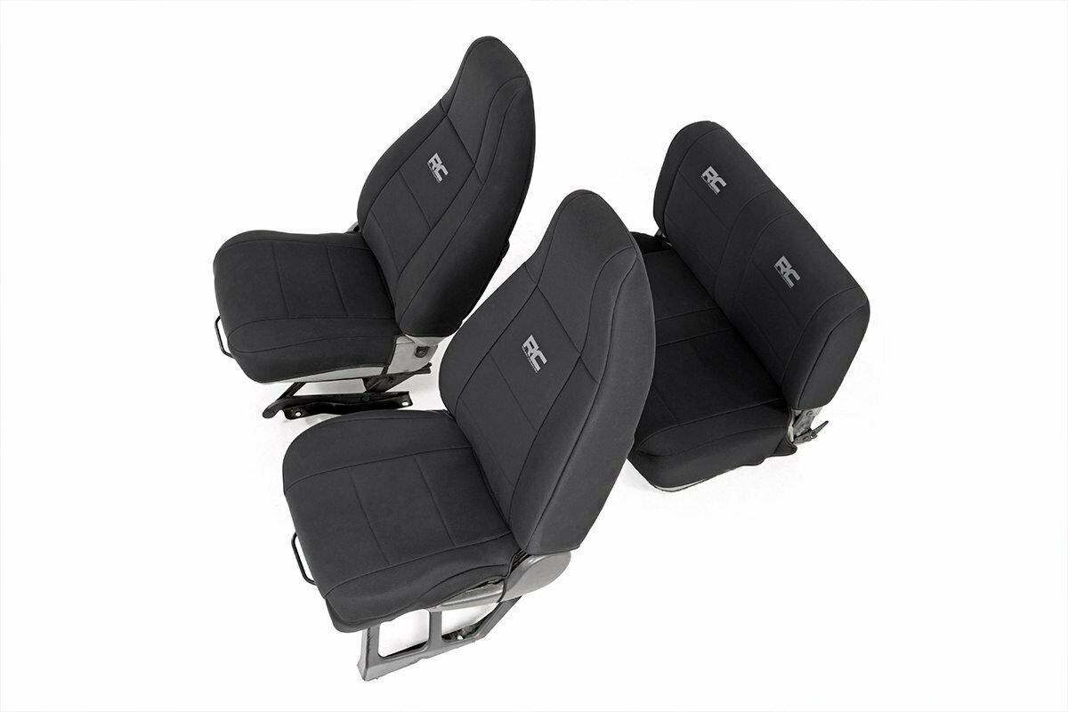 Jeep Neoprene Seat Cover Set | Black [87-90 Wrangler YJ]