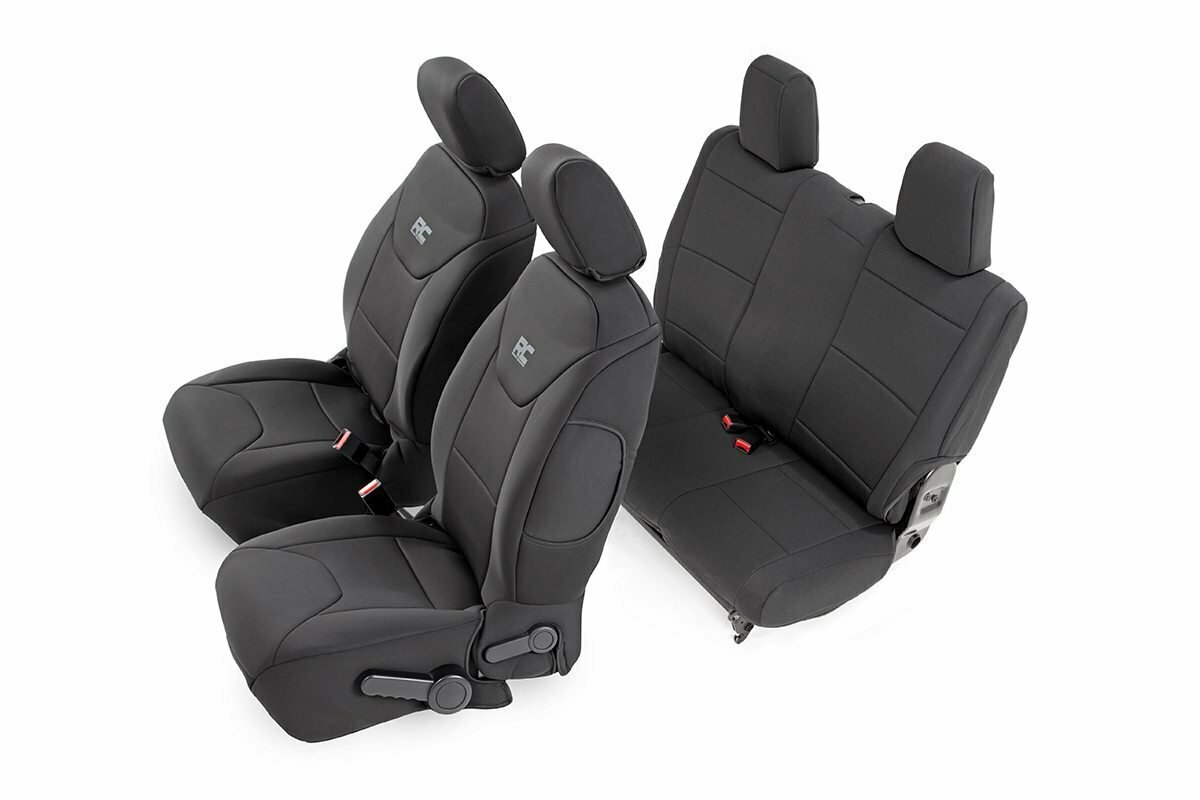 Jeep Neoprene Seat Cover Set | Black [13-18 Wrangler JK | 2 Door]