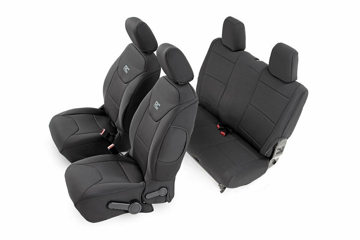 Jeep Neoprene Seat Cover Set | Black [11-12 Wrangler JK | 2 Door]