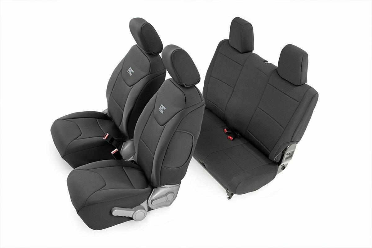 Jeep Neoprene Seat Cover Set | Black [07-10 Wrangler JK | 2 Door]