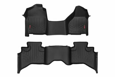 Heavy Duty Floor Mats [Front/Rear] - (12-18 Dodge Ram 1500 | Quad Cab | Half Console)