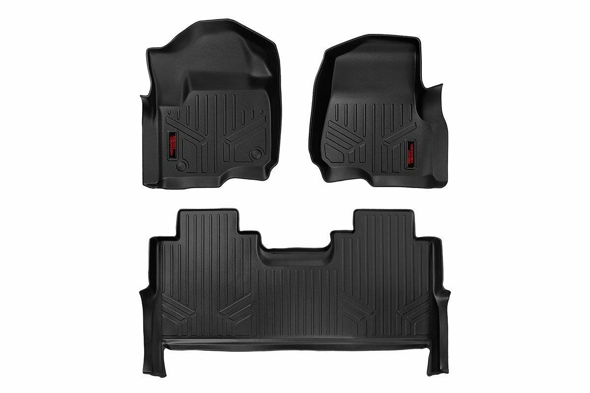 Heavy Duty Floor Mats [Front/Rear] - (17-20 Ford Super Duty Crew Cab | Bucket Seats)