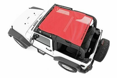 Jeep Wrangler JK Mesh Bikini Top Plus (07-18 2-Door | Red)