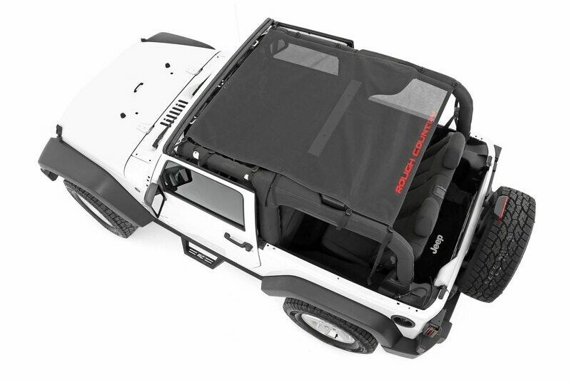 Jeep Wrangler JK Mesh Bikini Top Plus (07-18 2-Door   Black)