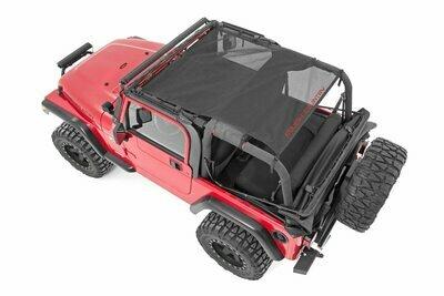 Jeep Wrangler TJ / YJ Mesh Bikini Top Plus (92-06 | Black)