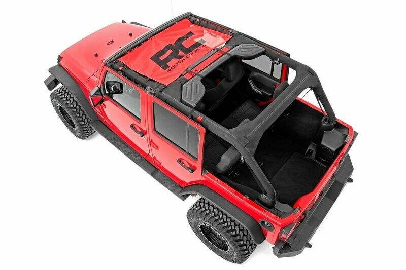 Jeep Wrangler JK Mesh Bikini Top (07-18   Red)
