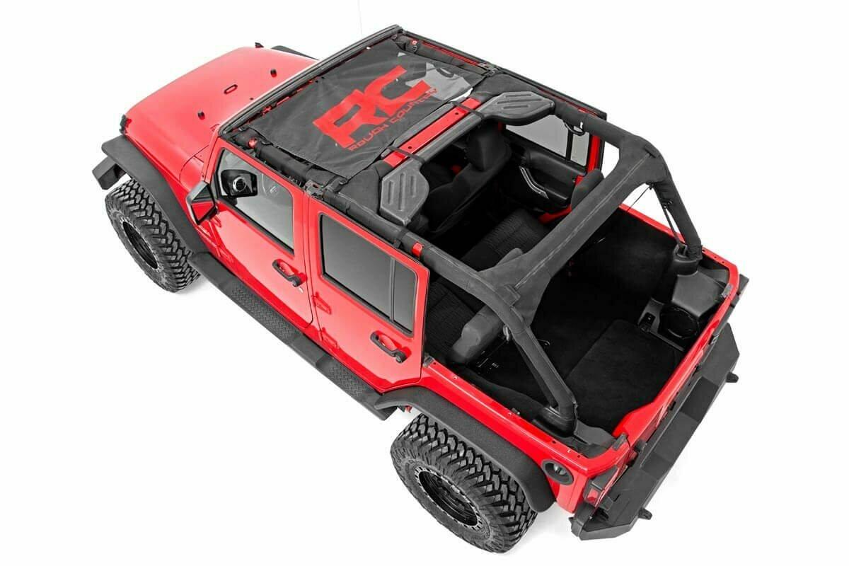 Jeep Wrangler JK Mesh Bikini Top (07-18 | Black)
