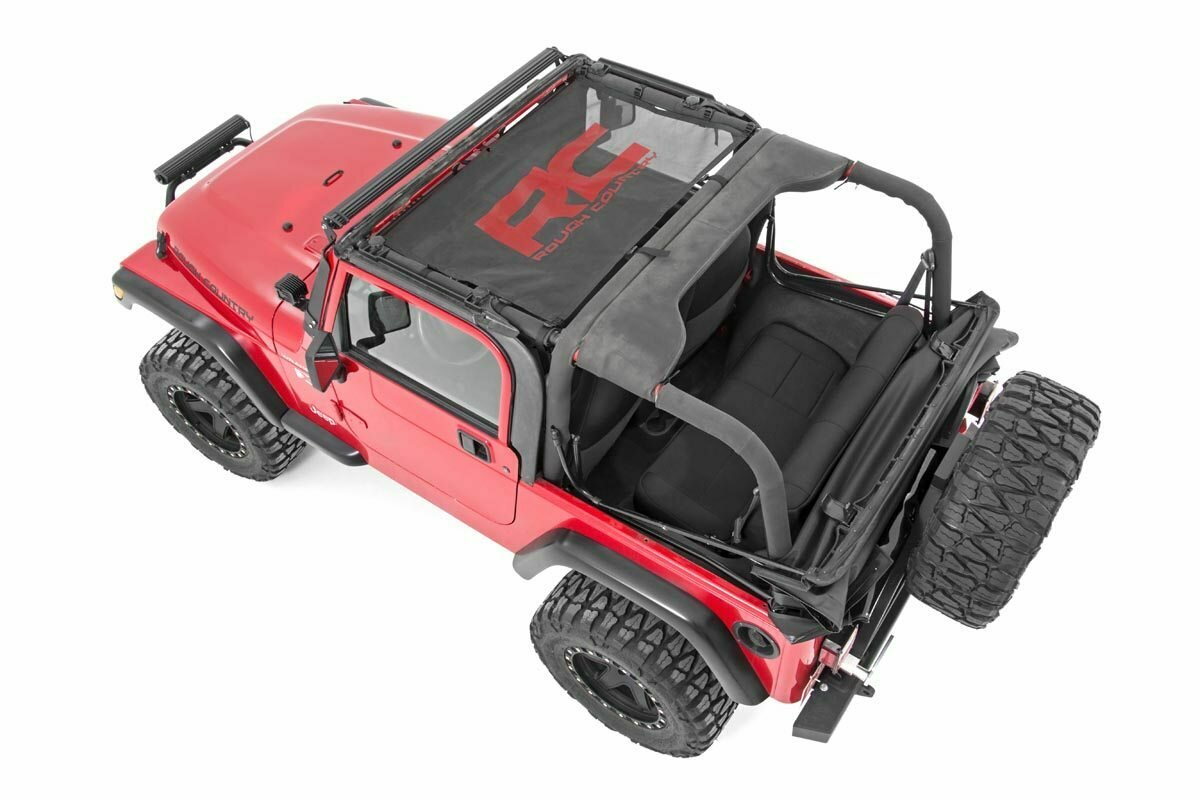 Jeep Wrangler TJ Mesh Bikini Top (97-06   Black)