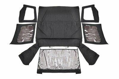 Jeep Wrangler YJ Replacement Soft Top | Black (87-95 - Half Steel Doors)