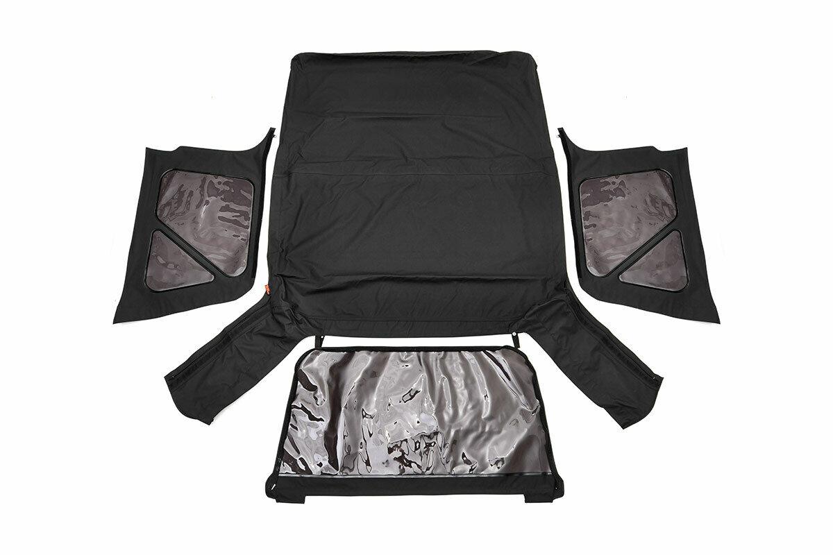 Jeep Replacement Soft Top | Black (97-06 TJ Wrangler Full Steel Doors)