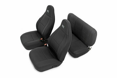 Jeep Neoprene Seat Cover Set | Black [03-06 Wrangler TJ]