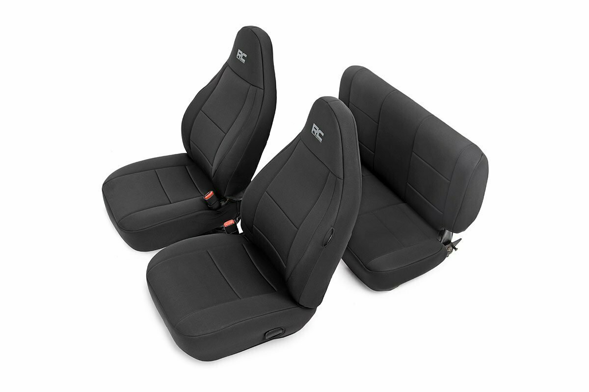 Jeep Neoprene Seat Cover Set | Black [97-02 Wrangler TJ]