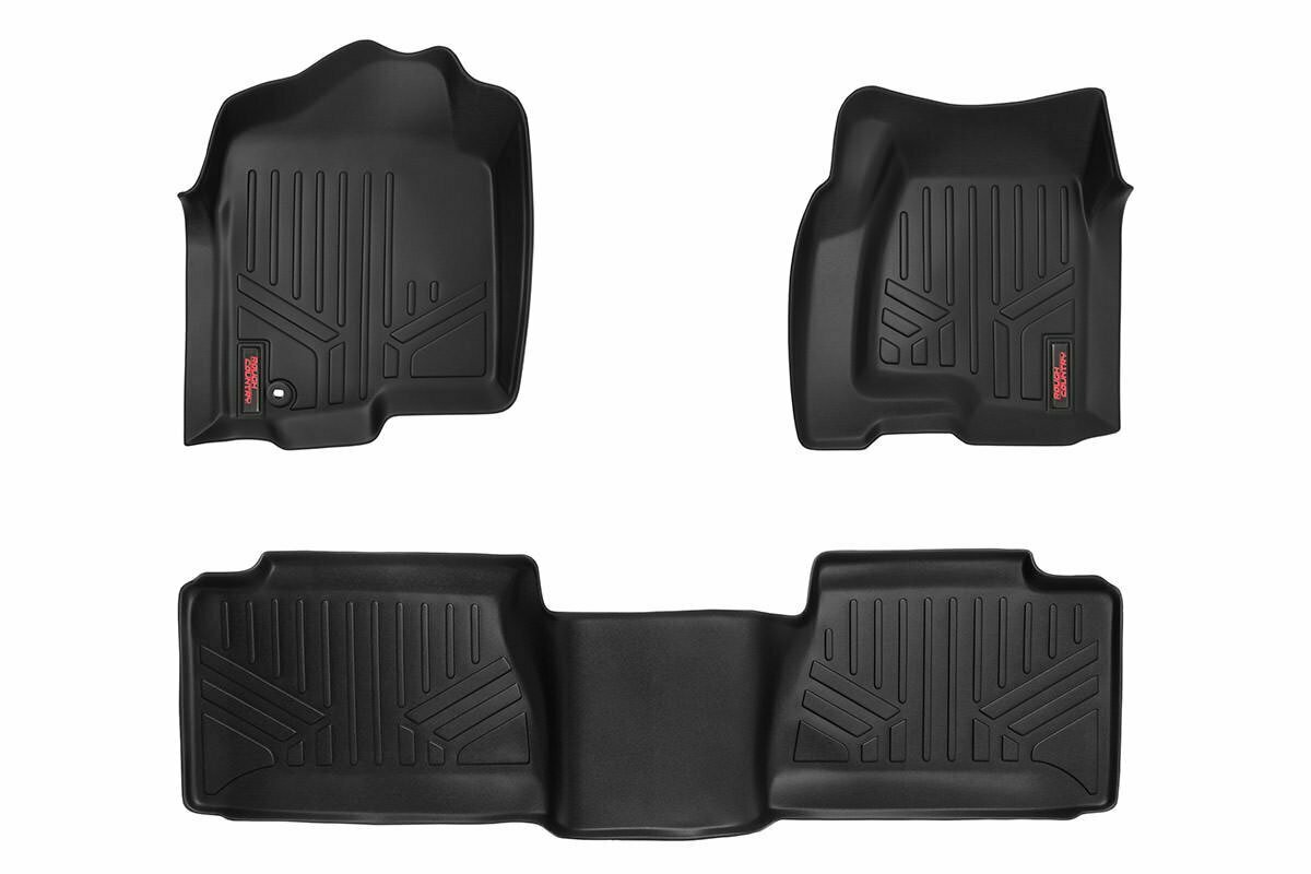 Heavy Duty Floor Mats [Front/Rear] - (99-06 Chevy Silverado / GMC Sierra Ext. Cab)