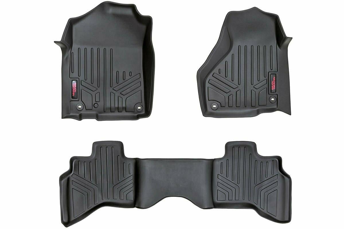 Heavy Duty Floor Mats [Front/Rear] - (12-18 Dodge Ram 1500 | Quad Cab | Full Console)